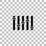 Vlak equaliserpictogram stock illustratie