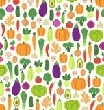 Vlak groentenpatroon Royalty-vrije Stock Afbeelding