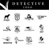 Vlak het embleemontwerp van het detectiveagentschap stock illustratie