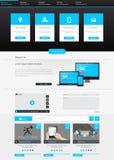 Vlak het malplaatjeontwerp van de Websiteinterface Vector Royalty-vrije Stock Afbeelding