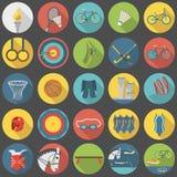 Vlak het pictogram vastgesteld deel 2 van de zomer olympisch sporten royalty-vrije stock afbeelding
