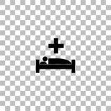 Vlak het ziekenhuispictogram stock illustratie
