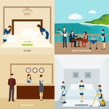 Vlak hotelpersoneel vector illustratie