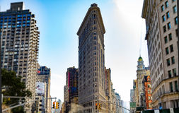 Vlak Ijzer die New York bouwen Stock Foto's
