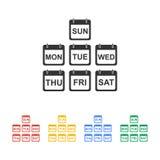 Vlak kalenderpictogram Royalty-vrije Stock Foto's