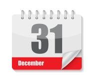 Vlak Kalenderpictogram voor Toepassingenvector Royalty-vrije Stock Afbeelding