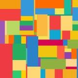 Vlak kleurrijk patroon met chaotische rechthoeken Royalty-vrije Stock Foto's