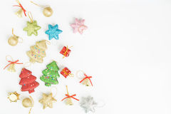 Vlak leg beeld van chrismasdag Royalty-vrije Stock Foto's