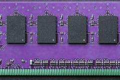 Vlak leg grafisch stillevenclose-up van de computergeheugen van DIMM RAM royalty-vrije stock afbeeldingen