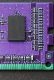 Vlak leg grafisch stillevenclose-up van van het de computergeheugen van DIMM RAM de spaandermodule Verticaal beeld als achtergron Royalty-vrije Stock Afbeeldingen