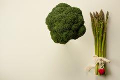 vlak leg van groene groenten Stock Foto's