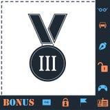 Vlak medaillepictogram royalty-vrije illustratie