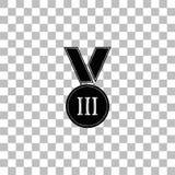 Vlak medaillepictogram stock illustratie