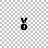 Vlak medaillepictogram vector illustratie