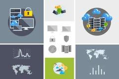 Vlak modern ontwerp vectorillustratie en pictogram Stock Foto's