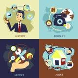 Vlak ontwerp voor de concepten van de zakelijke klantdienst stock illustratie
