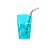 Vlak ontwerpglas water met ijs vector illustratie
