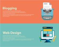 Vlak ontworpen banners voor grafisch ontwerp, Webontwerp en het blogging Vector royalty-vrije illustratie