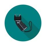 Vlak pictogram Taser Royalty-vrije Stock Fotografie