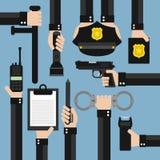 Vlak politie modern ontwerp Royalty-vrije Stock Foto