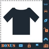 Vlak t-shirtpictogram vector illustratie