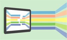 Vlak tablet vlak ontwerp Stock Afbeeldingen