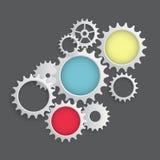 Vlak Toestelpictogram Samenwerking en Groepswerkconcept Vector illustr stock illustratie