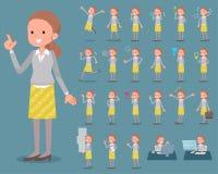 Vlak type achter knoophaar women_1 stock illustratie