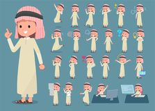 Vlak type Arabische boy_1 stock illustratie