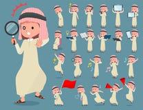 Vlak type Arabische boy_2 vector illustratie