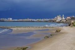 Vlak vóór het onweer in Cadiz Stock Fotografie