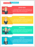 Vlak van Bedrijfs ontwerpinfographic Malplaatje Stock Illustratie