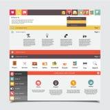 Vlak Vectorwebsitemalplaatje voor zaken Stock Foto