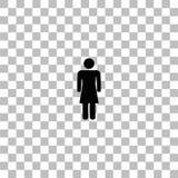 Vlak vrouwenpictogram stock illustratie