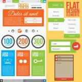 Vlak Webontwerp Stock Fotografie