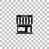 Vlak winkelpictogram stock illustratie
