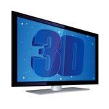 Vlakke 3D TV van het Scherm vector illustratie