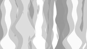 Vlakke animatie met streepgolf stock videobeelden