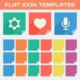 In Vlakke App Pictogrammalplaatjes met Verschillende Gevouwen Hoeken vector illustratie