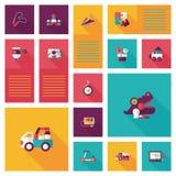 Vlakke app van het jong geitjespeelgoed ui achtergrond, eps10 Royalty-vrije Stock Foto's