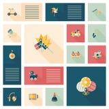 Vlakke app van het jong geitjespeelgoed ui achtergrond, eps10 Royalty-vrije Stock Fotografie