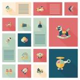 Vlakke app van het jong geitjespeelgoed ui achtergrond, eps10 Stock Afbeelding