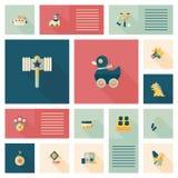 Vlakke app van het jong geitjespeelgoed ui achtergrond, eps10 Royalty-vrije Stock Afbeeldingen