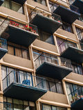Vlakke balkons Royalty-vrije Stock Fotografie