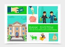 Vlakke Bedrijfs Geplaatste Financiënelementen royalty-vrije illustratie