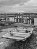 Vlakke bodemboot Royalty-vrije Stock Afbeelding
