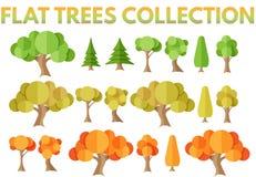 Vlakke bomeninzameling Royalty-vrije Illustratie
