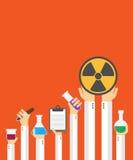 Vlakke chemische kaart Royalty-vrije Stock Foto