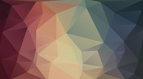 Vlakke 2D driehoeksachtergrond Royalty-vrije Stock Foto
