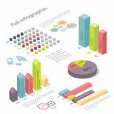 Vlakke 3d isometrische infographic voor uw bedrijfspresentaties Stock Foto's
